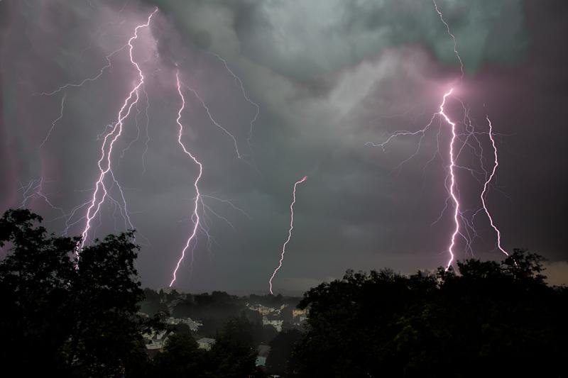 Lightning storm in Bridgeport CT