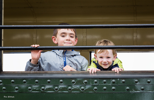 Boys on Essex Steam Train, Connecticut