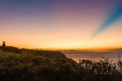 Sunrise at Southeast Lighthouse on Block Island, R
