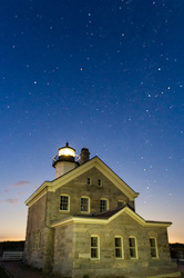 Stars over the North Lighthouse, Block Island, RI