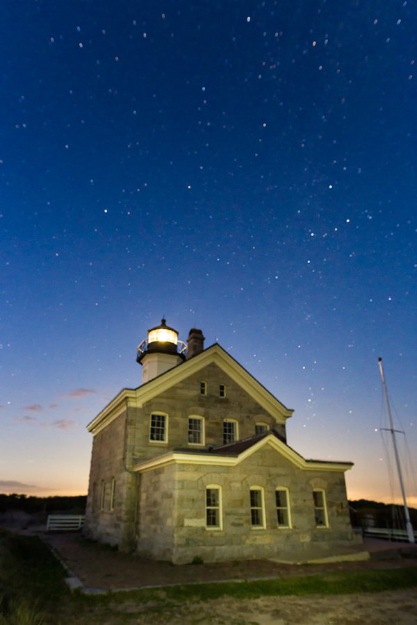Stars over the North Lighthouse, Block Island, RI