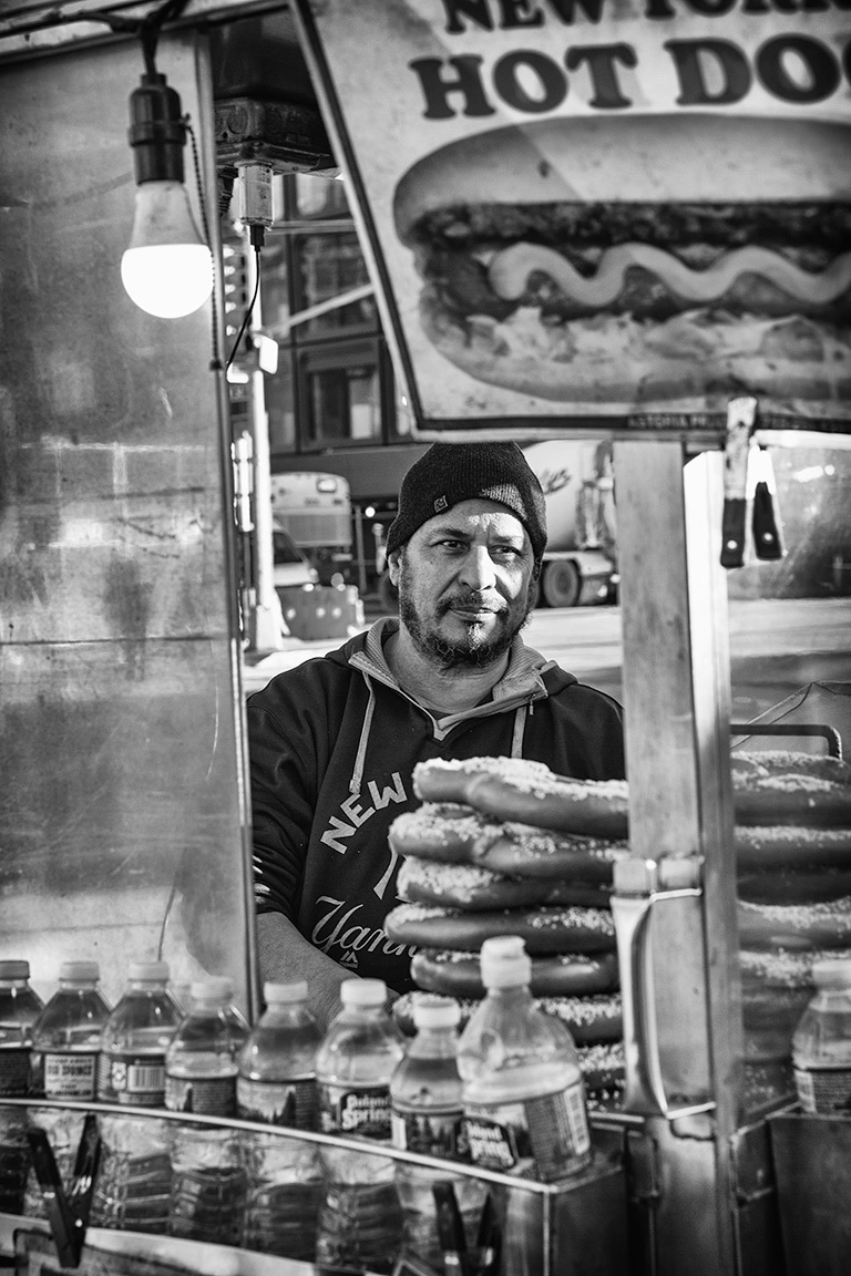 Hot dog vendor in New York City