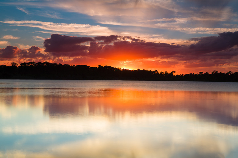 Sunset at the George LeStrange Preserve, Florida