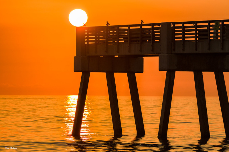 Sunrise at the Seaquay Pier in Vero Beach FL