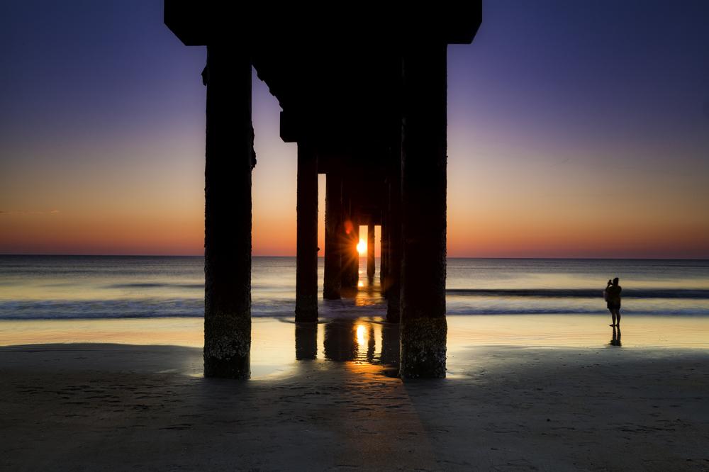 Sunrise at St. John's Pier, St. Augustine FL