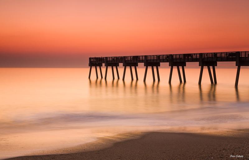 Sunrise at the pier in vero Beach florida