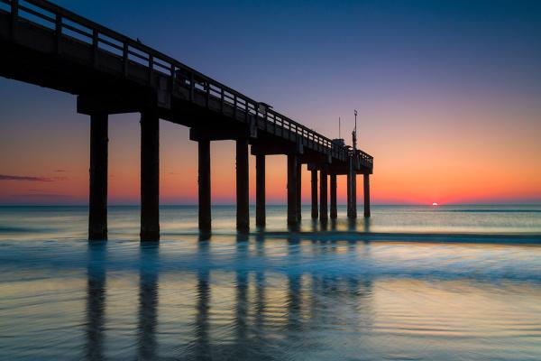St. John's Pier, sunrise, St. Augustine, FL