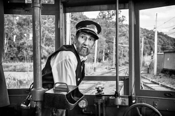 Conductor at Shoreline Trolley Museum, cT