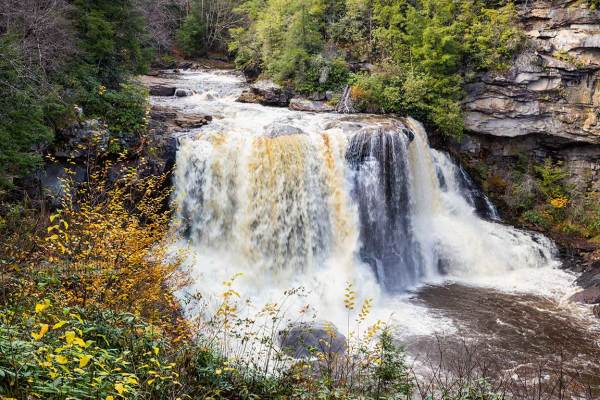 Blackwater Falls in West Virginia