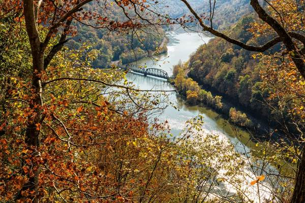 Bridge over New River from Hawks Nest, WV
