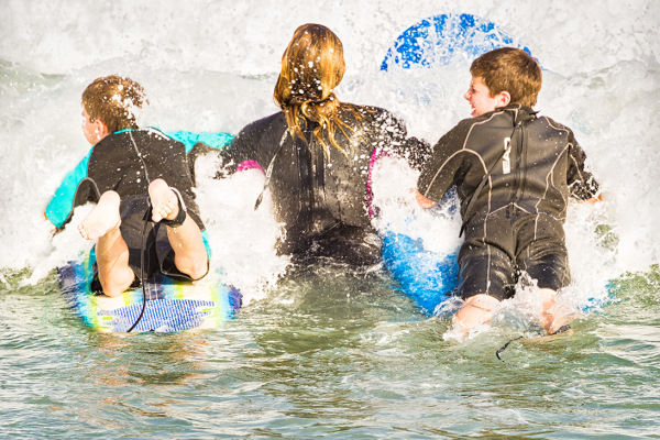 Surfing lesson, Sebastian Inlet, Florida