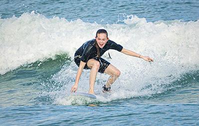 Surfing lesson, Florida