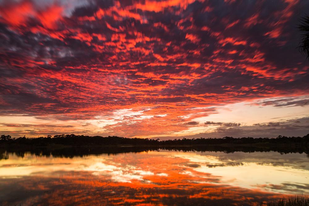 Colorful sunset at George LeStrange Preserve, FL