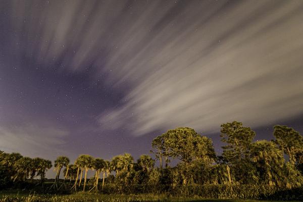 cloud rising at night