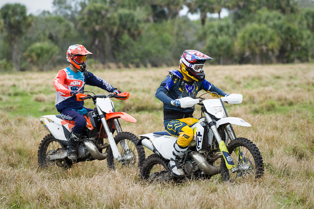 Motorcycle racers in Florida.