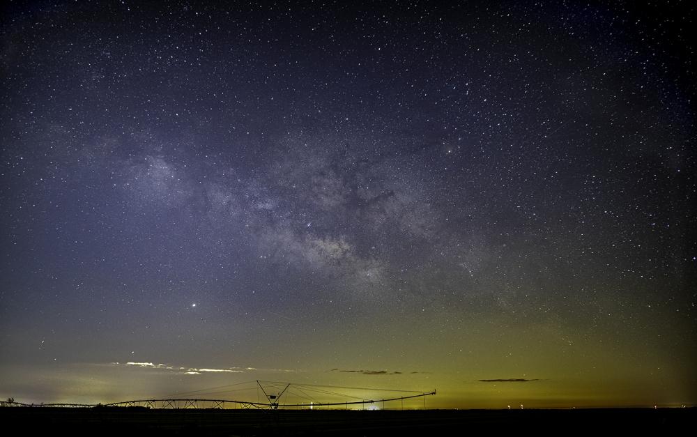 Milky Way over farm, Florida