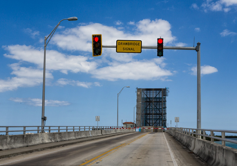 drawbridge is up, Hutchinson Island,Florida