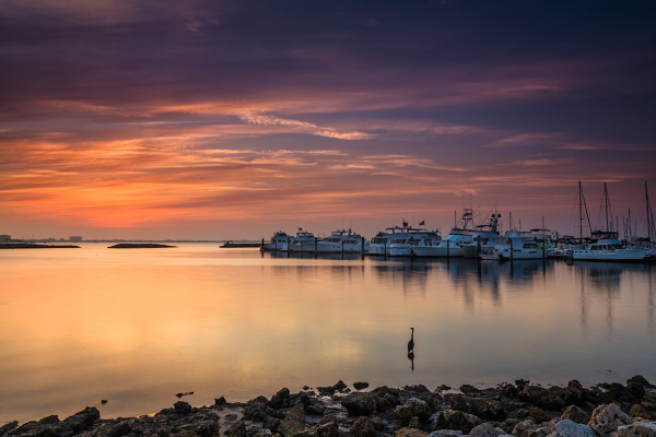 Ships at sunrise, Florida