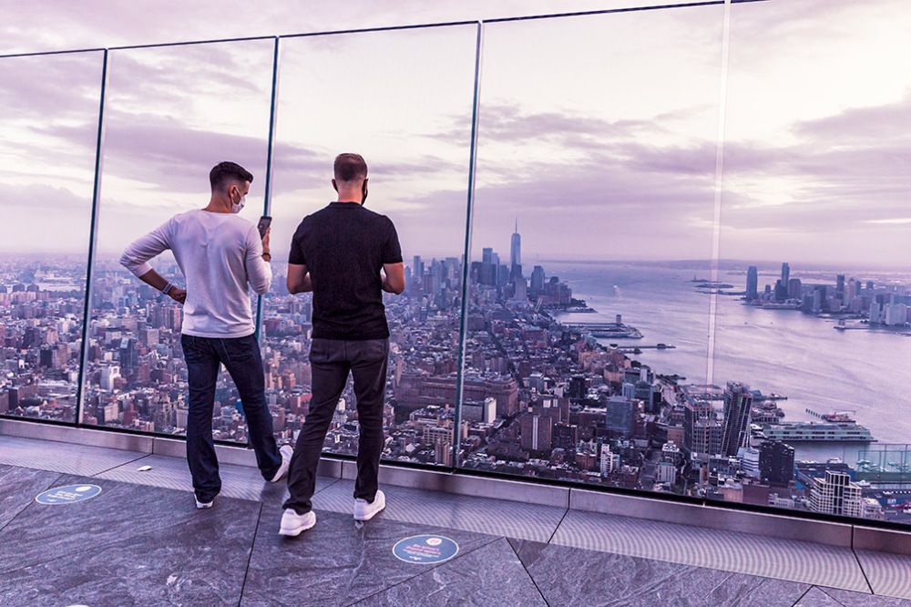 The Edge observation deck in NYC