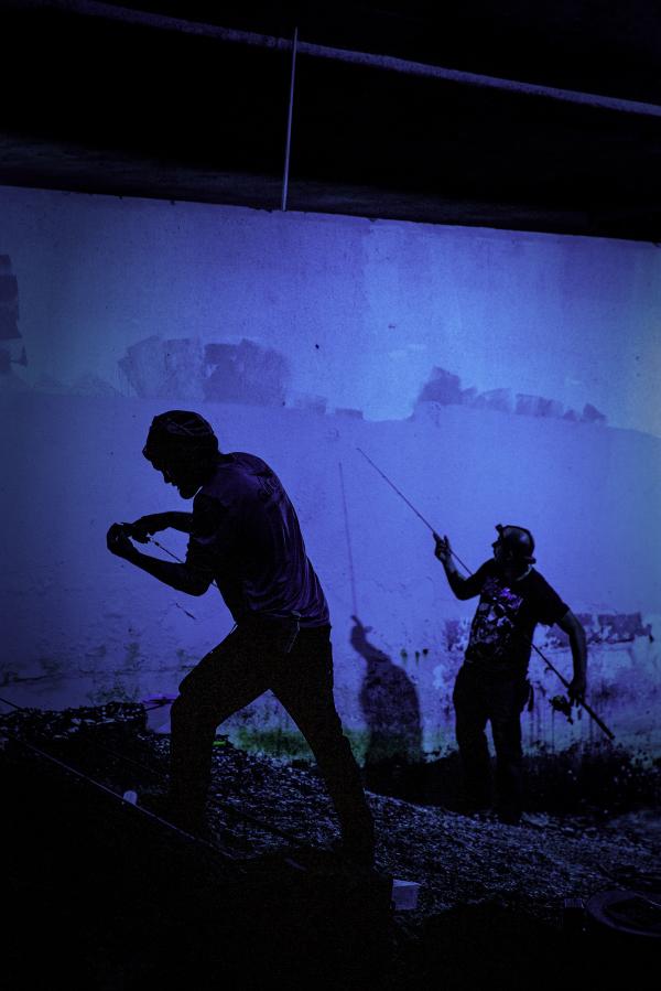 2 fishermen at night, sarasota, fl