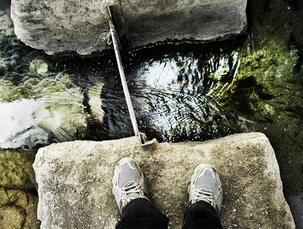 under my feet...
