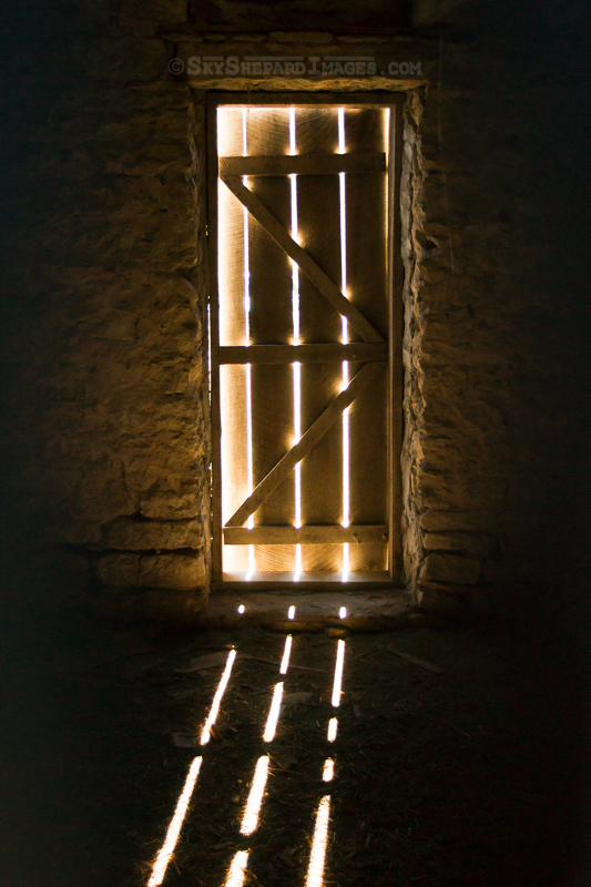 Light flowing through Lock House Door