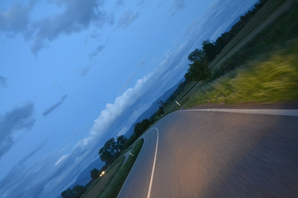 Road. Dusk.
