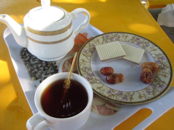 food tea biscuit trip