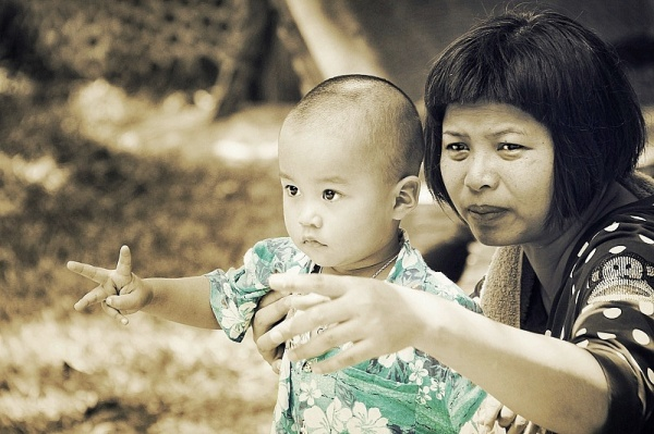 Mom & son ...