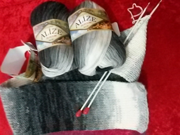 Knitted scarf(1)