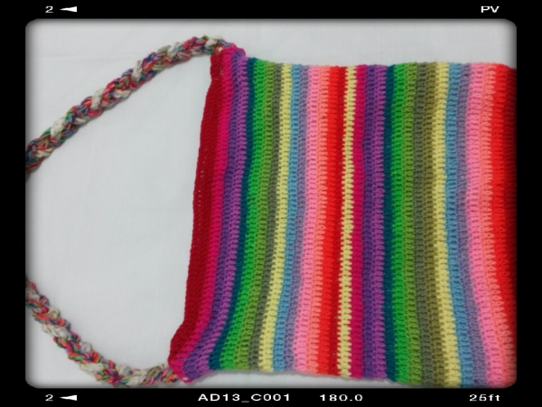 a rainbow bag