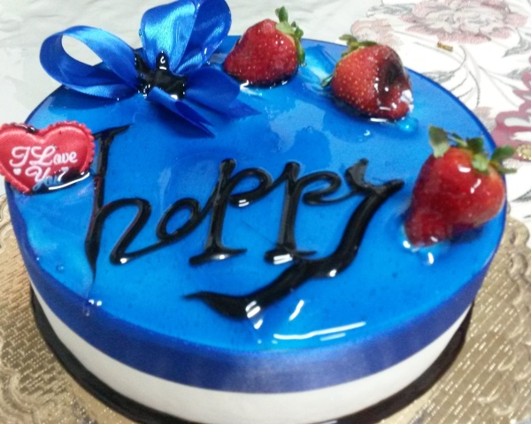 blue cake(be happy, please)
