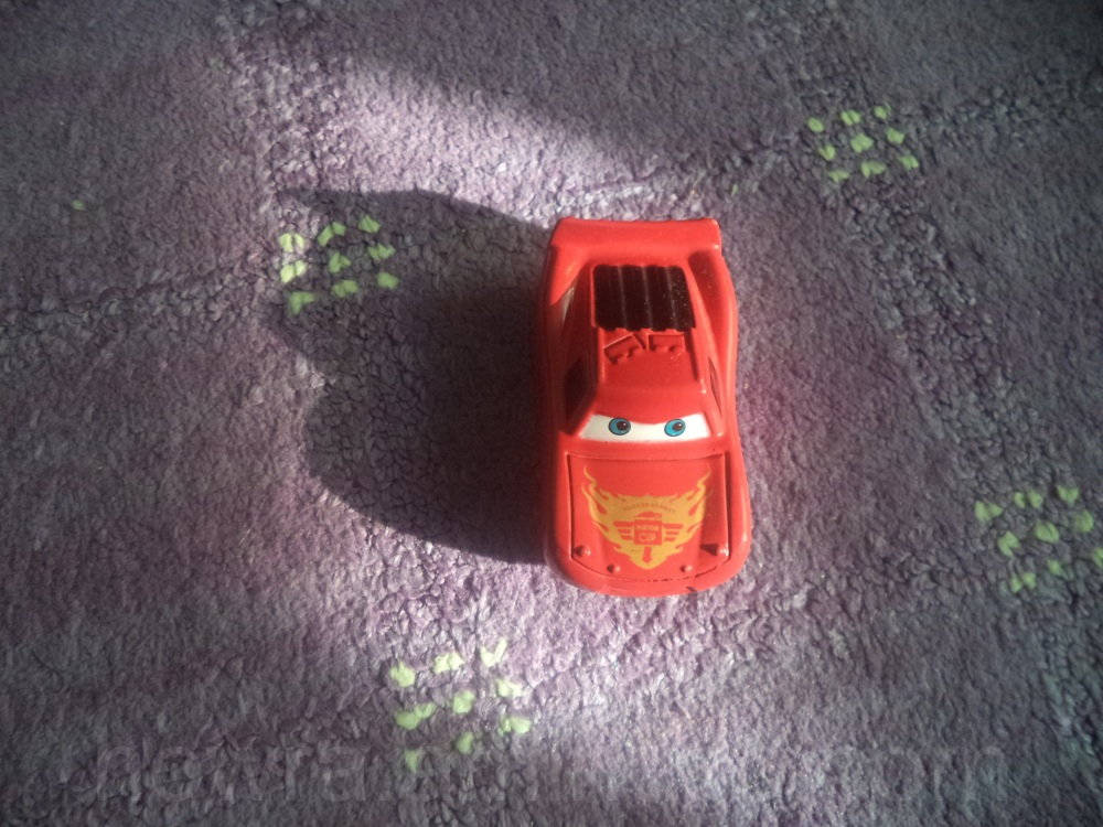 The toy car