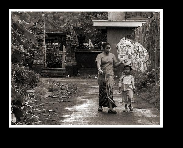 under mothers umbrella