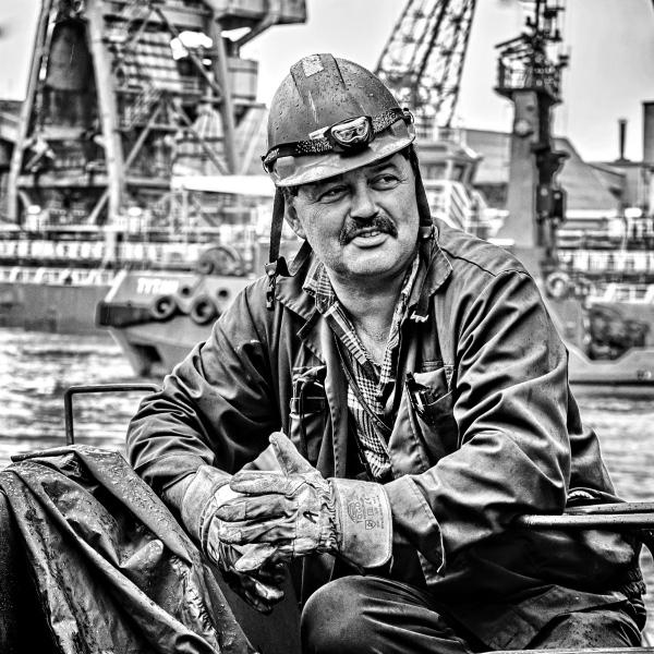 Portrait Of Working Man