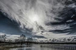 La barrière nuageuse ...