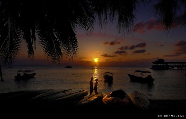 Beautiful Sunset at Coral Bay, Perhentian Island