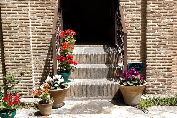 Stairs and vases