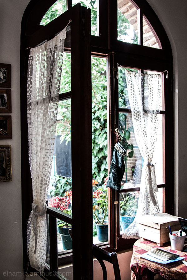 New light comes through the window