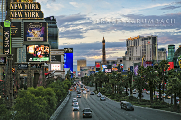 Las Vegas Strip urban travel photography