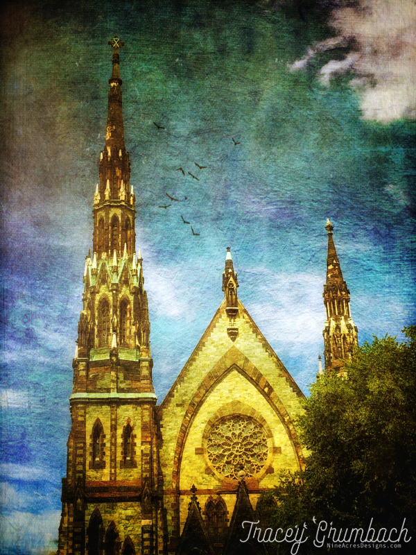 church spire in Baltimore, MD