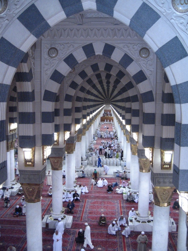 Al-Masjid al-Nabawi (Inside view )