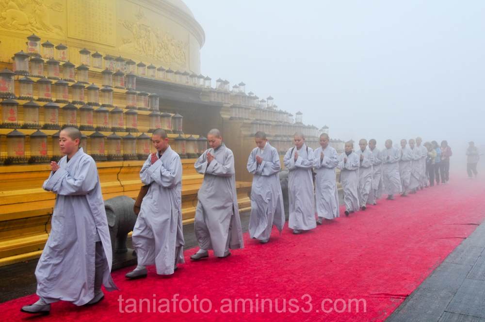 Western Sichuan, Mt Emei, Golden Summit Temple