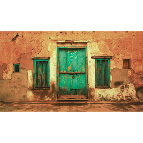 Doorway in rural Rajasthan, India