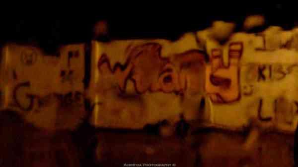 Graffiti un soir de pluie