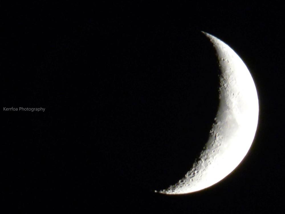 Pas facile de capturer la lune !