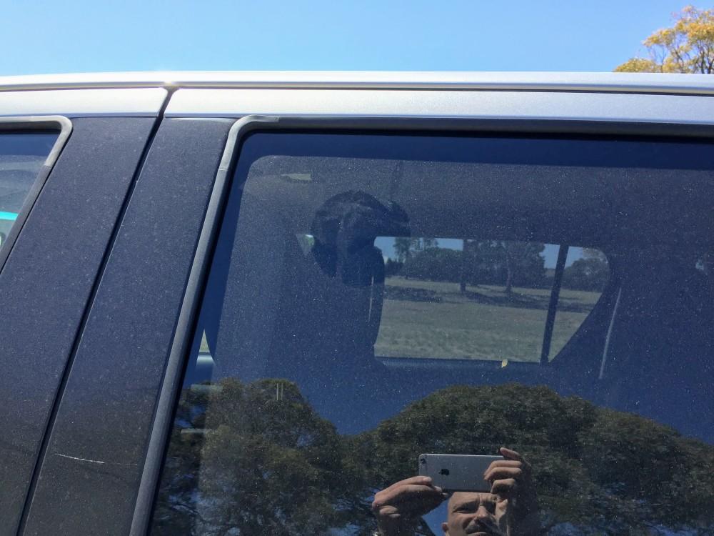 Gridiron Football hit the rear window
