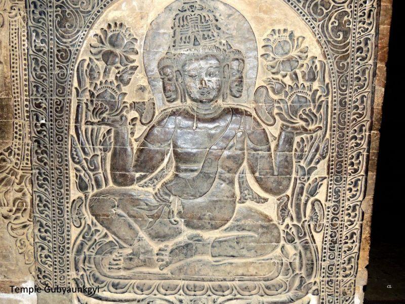Temple Gubyaunkgyi intérieur