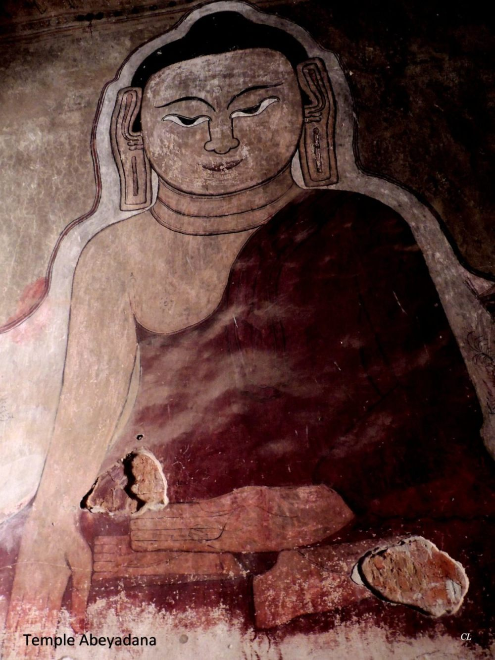 Temple Abeyadana fresque murale
