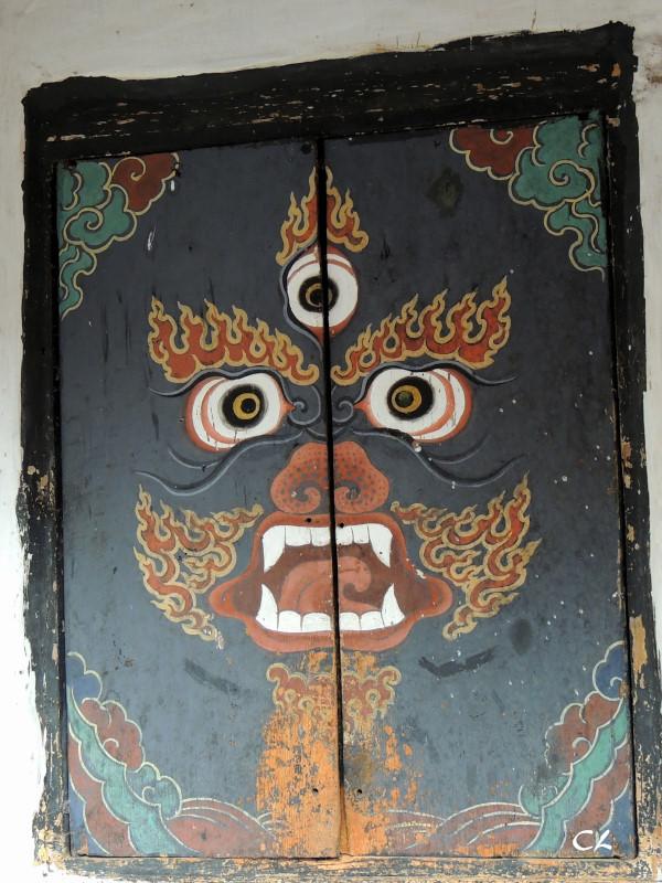Porte intérieure au temple Jambay